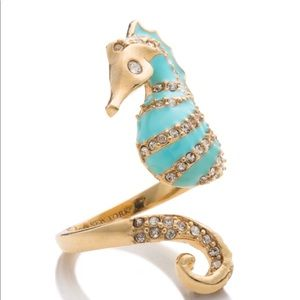 Kate Spade Paradise Found Seahorse Ring sz 7